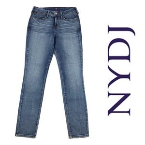 NYDJ Alina Faded Whiskered Slim Legging Jeans